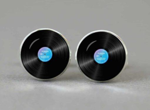 Manchetknapper med vinyl